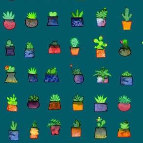 Happy Little Plants - teal variant