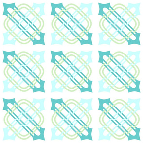 Merlins Knot Turquoises Green White