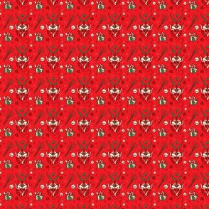 Medium Krampus in Christmas Colors