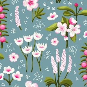 Painterly Spring Flowers