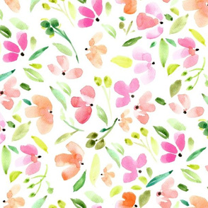 Hand Painted Watercolor -  Little Flowers