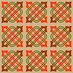 Merlins Knot Tan with Rust Brown Moss