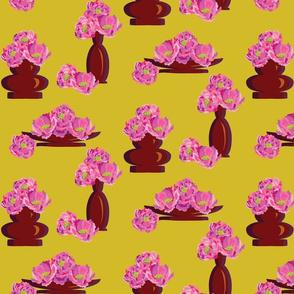 Peonies in Vases Gold-01