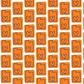 utah love   orange
