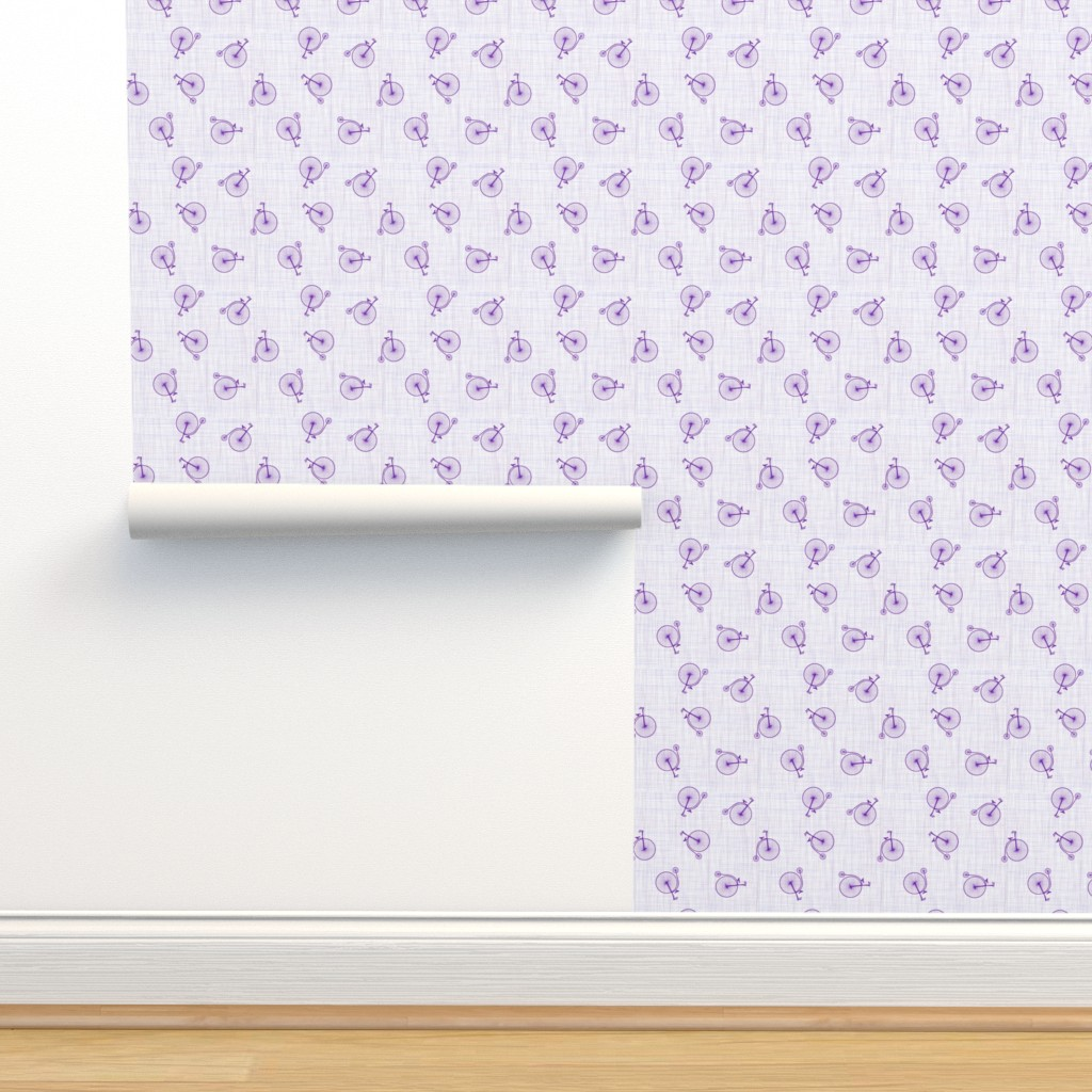 Isobar Durable Wallpaper featuring high wheels violet by michaelakobyakov
