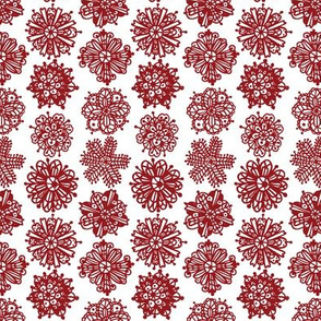 Christmas Mandalas Dark Red
