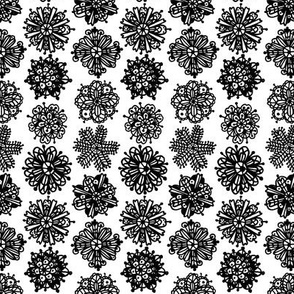 Christmas Mandalas Black & White