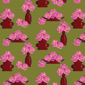 Peonies in Vases Olive-01