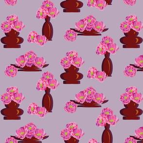 Peonies in Vases Violet-01