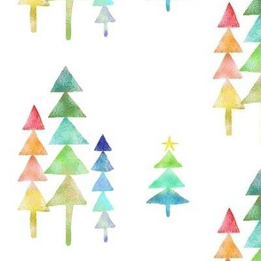 A Geometric Rainbow Christmas