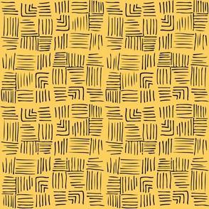 Chinoiserie Trellis co-ordinate Yellow/Black