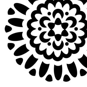 rosette unique flower 24x24