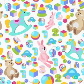 Funny cartoon toys kids pattern
