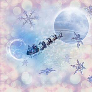 Santa sleigh winter dream