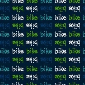 Bike Words - Blue Green