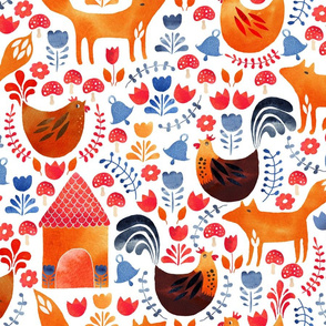 Scandi foxes and chickens