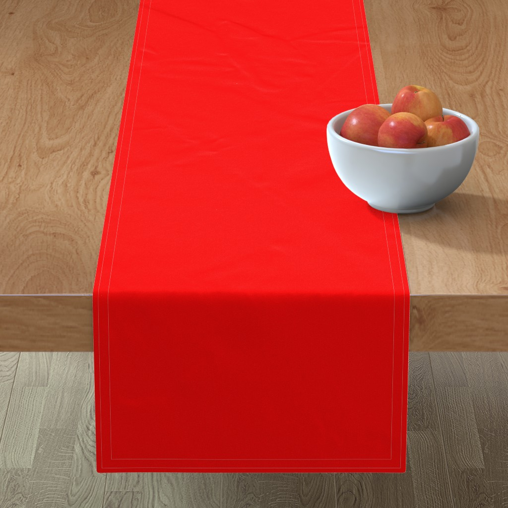 Minorca Table Runner featuring Holly Red Christmas Red Solid by paper_and_frill