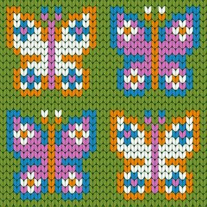 08170571 : knitted butterflies