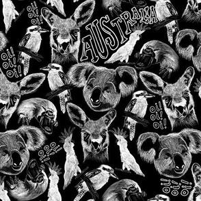 Australia Midnight Animals - Small