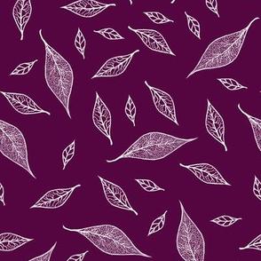 Skeleton Leaves Purple