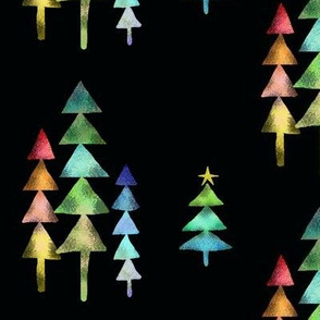 A Geometric Rainbow Christmas with Black