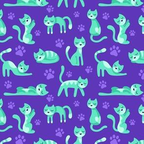 Kitty Cats Purple