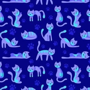 Kitty Cats Blue