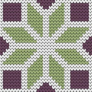 08171653 : knitted octagonal star