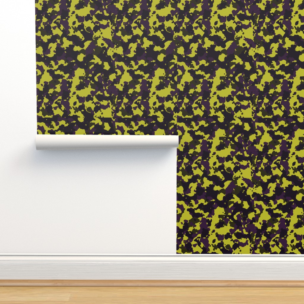Isobar Durable Wallpaper featuring Brown Yellow Purple Violet Color Basic Army Military Camo Camouflage Pattern by artpics