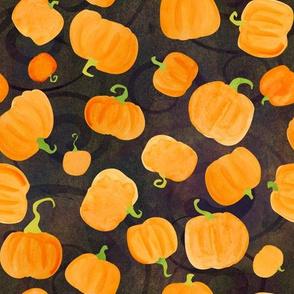 pumpkins scatter black