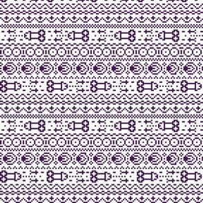 fair isle NSFW purple and white