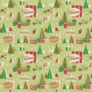 Retro Christmas-Log Cabin