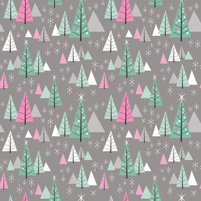 Retro Christmas Forest-Frenchy