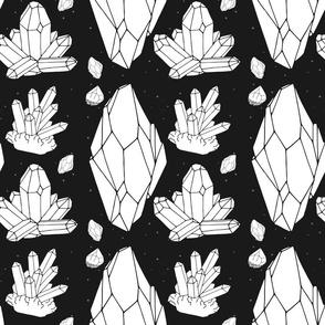 Black & White Crystal Madness