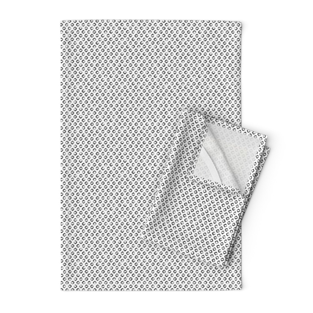 Orpington Tea Towels featuring Rough Diamond Stamp - Small by autumn_musick