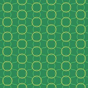 Celtic Rings - Greens Gold reversed