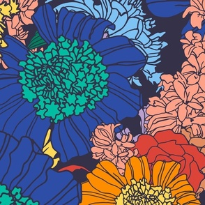 Floral Midnight Jumbo Scale