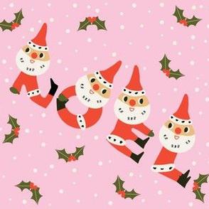 Santa Noel on pink