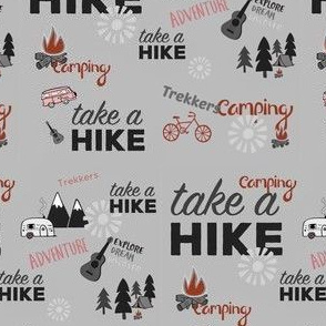 Take A Hike - Gray and Red