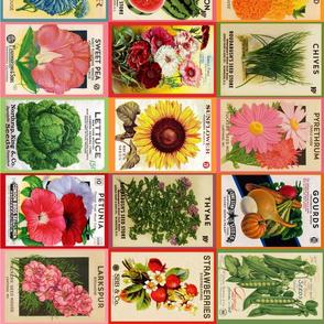 Vintage Seed Packets sideways