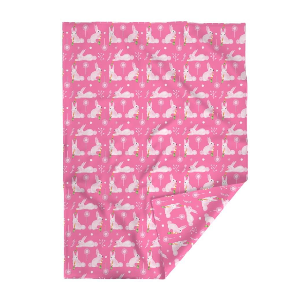 Lakenvelder Throw Blanket featuring Small Black Flamingos on White by colettegorgas