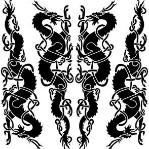 Celtic Dragons Facing Large Repeat