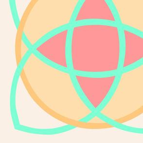 Nucleus Vanilla with Gold Aqua Peach