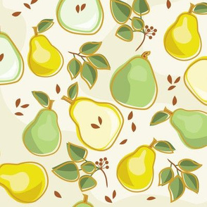 Pear Neutral Background