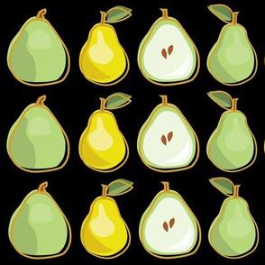 Pear Black Background