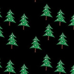 Project 842 | Christmas Trees on Black