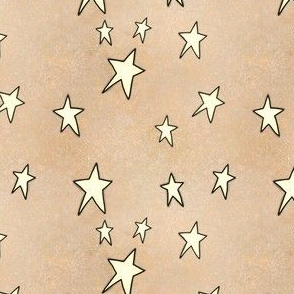 Project 842 | Christmas Stars on Gold (darker)