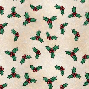 Project 842 | Christmas Holly on Gold