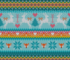 Fair Isle Knitted Forest