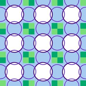 Celtic Rings block - Purple Green